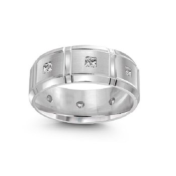 3/8ct tw Diamond Wedding Ring in 10K White Gold