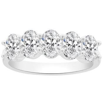2ct tw NewBorn Lab Created Diamond Anniversary Ring in 14K White Gold