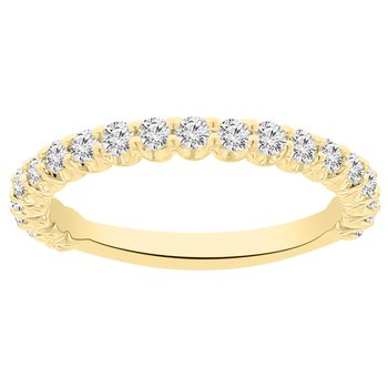 1/2ct tw NewBorn Lab Created Diamond Wedding Ring in 14K Yellow Gold