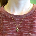 .01ct tw Diamond Fleur de Lis Necklace in Sterling Silver with Yellow Gold Plating