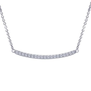 1/5ct tw Diamond Bar Necklace in 14K White Gold