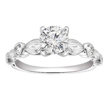 3/8ct tw Diamond Engagement Ring in Platinum