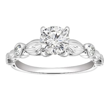 3/8ct tw Diamond Engagement Ring in Platinum