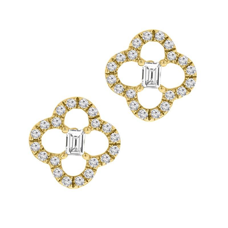 1/5ct tw Diamond Fashion Stud Earrings in 14K Yellow Gold