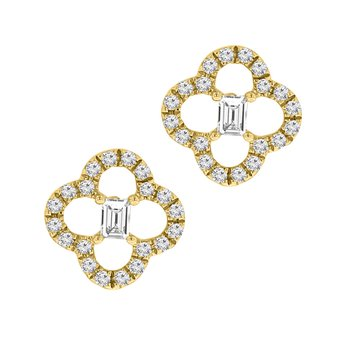 1/5ct tw Diamond Fashion Stud Earrings in 14K Yellow Gold