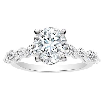 5/8ct tw NewBorn Lab Craeted Diamond Engagement Ring Setting in 14K White Gold