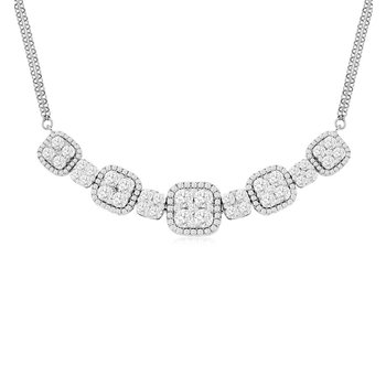 2 1/25ct tw Diamond Thousand Points of Light Necklace in 14K White Gold