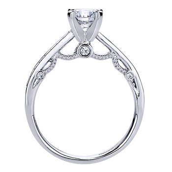 1/5ct tw Diamond Heart of New Orleans Engagement Ring Setting in 14K White Gold