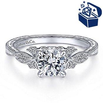 Treasure Hunt Value 7/8ct tw NewBorn Lab Created Diamond Engagement Ring in 14K White Gold