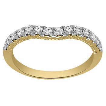 1/3ct tw Diamond Wedding Ring in 14K Yellow Gold