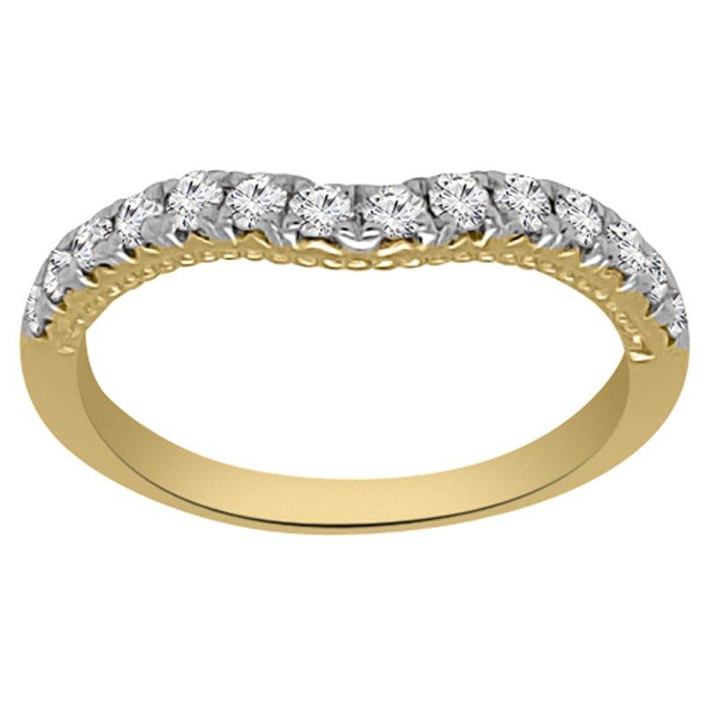 1/3ct tw Diamond Wedding Ring in 14K Yellow Gold
