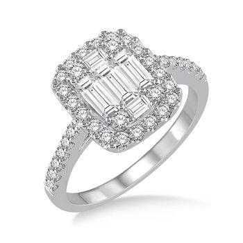 3/4ct tw Diamond Thousand Points of Light Fashion Ring in 14K White Gold