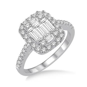 3/4ct tw Diamond Thousand Points of Light Fashion Ring in 14K White Gold