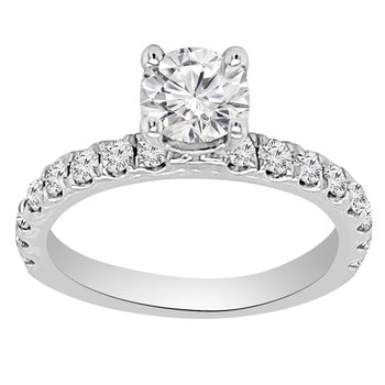 1 1/4ct tw NewBorn Lab Created Diamond Engagement Ring in 14K White Gold