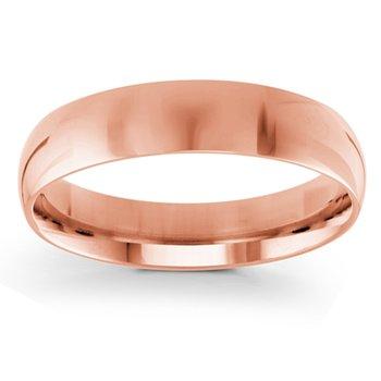 5mm Wedding Ring in 14K Rose Gold