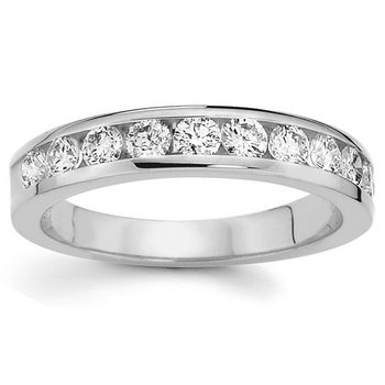 3/4ct tw Diamond Wedding Ring in 14K White Gold