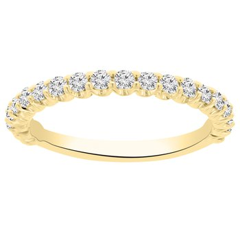 1/2ct tw NewBorn Lab Created Diamond Wedding Ring in 14K Yellow Gold