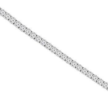 13 1/4ct tw NewBorn Lab Created Diamond Tennis Bracelet in 14K White Gold