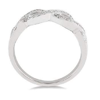 .07ct tw Diamond Infinity Fashion Ring in Sterling Silver