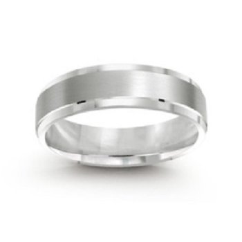6mm Wedding Ring in 14K White Gold