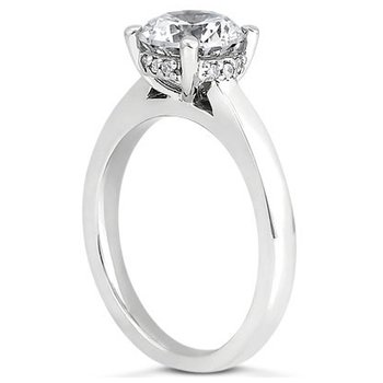 1 1/3ct tw Diamond Solitaire Engagement Ring in 14K White Gold