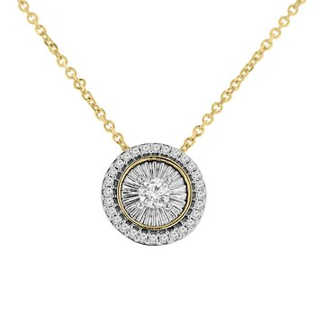 1/4ct tw Diamond Simply Love Collection in 10K White & Yellow Gold
