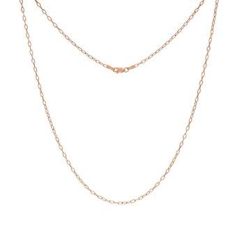 18 Inch Forzentina Chain in 14K Rose Gold