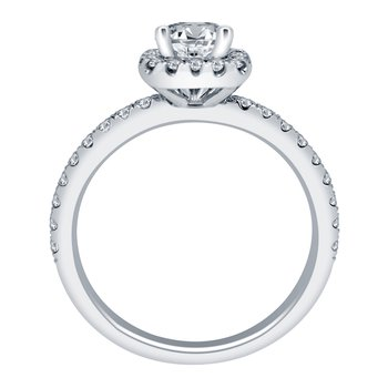 7/8ct tw NewBorn Lab Created Diamond Engagement Ring in 14K White Gold