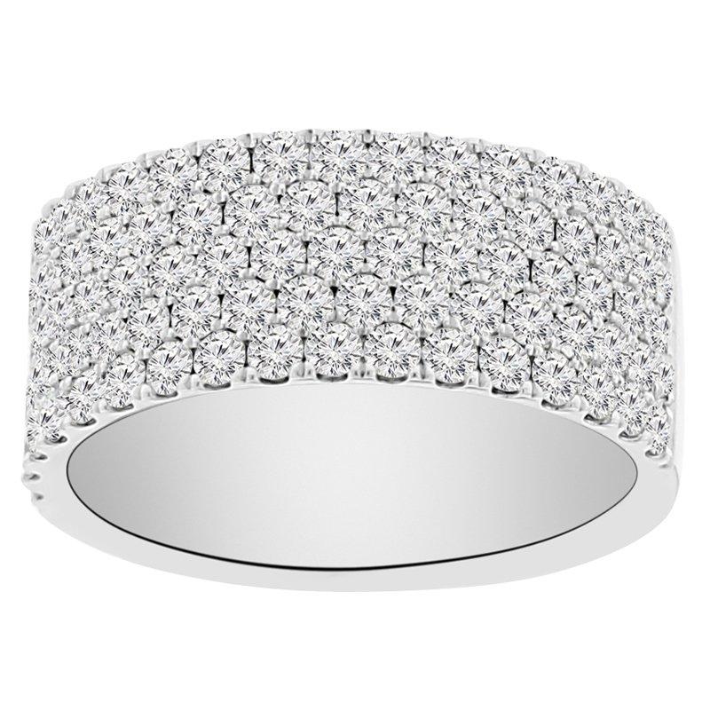 1 1/2ct tw Diamond Anniversary Ring in 14K White Gold