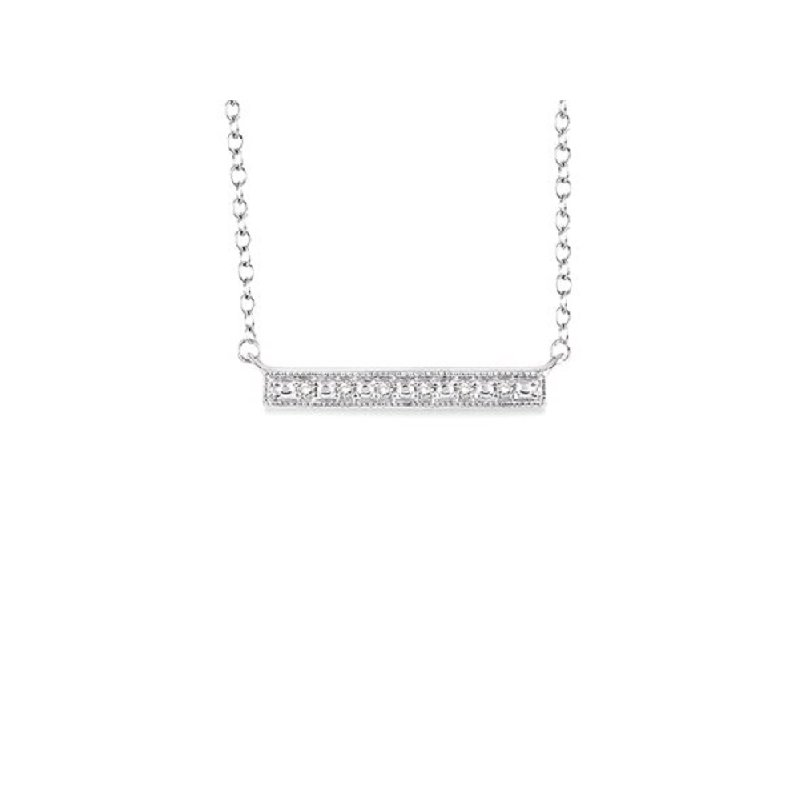 .05ct tw Diamond Bar Necklace in Sterling Silver