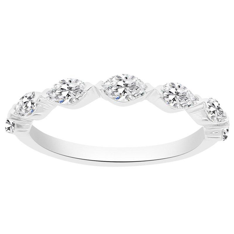 5/8ct tw NewBorn Lab Craeted Diamond Wedding Ring in 14K White Gold