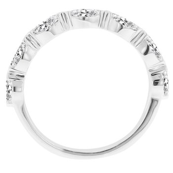 5/8ct tw NewBorn Lab Craeted Diamond Wedding Ring in 14K White Gold