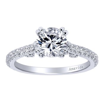 1 1/3ct tw Diamond Engagement Ring in 18K White Gold