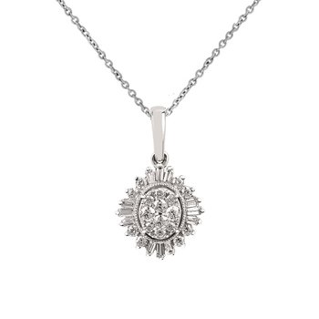 3/8ct tw Diamond Thousand Points of Light Necklace in 14K White Gold
