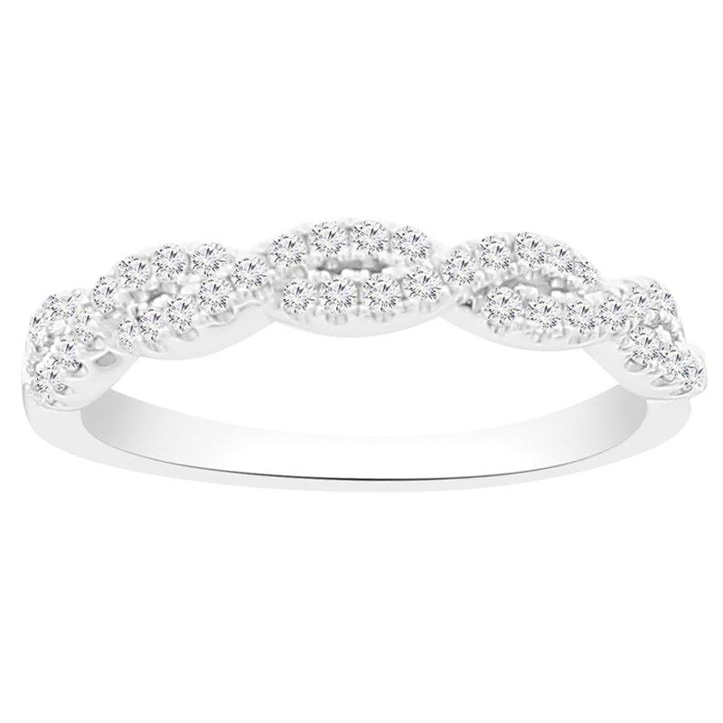 1/3ct tw NewBorn Lab Created Diamond Fashion Ring in 10K White Gold