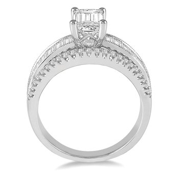 3 1/3ct tw NewBorn Lab Created Diamond Engagement Ring in 14K White Gold