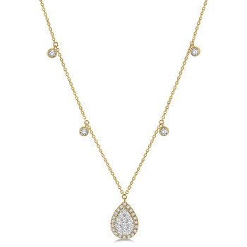 3/4ct tw Diamond Thousand Points of Light Necklace in 14K White & Yellow Gold