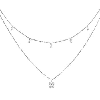 1/4ct tw Diamond Thousand Points of Light Necklace in 14K White Gold