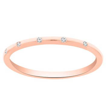 .03ct tw Diamond Stackable Ring in 14K Rose Gold