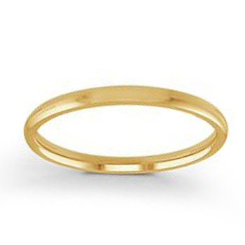 2mm Wedding Ring in 14K Yellow Gold