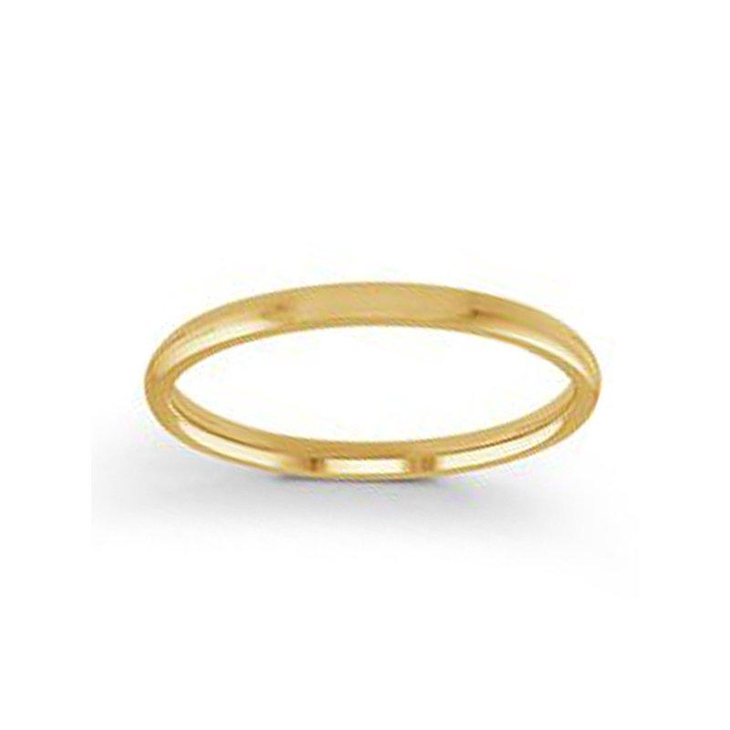 2mm Wedding Ring in 14K Yellow Gold