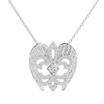 3/8ct tw NewBorn Lab Created Diamond Rise Up Nola Collection Necklace in Sterling Silver