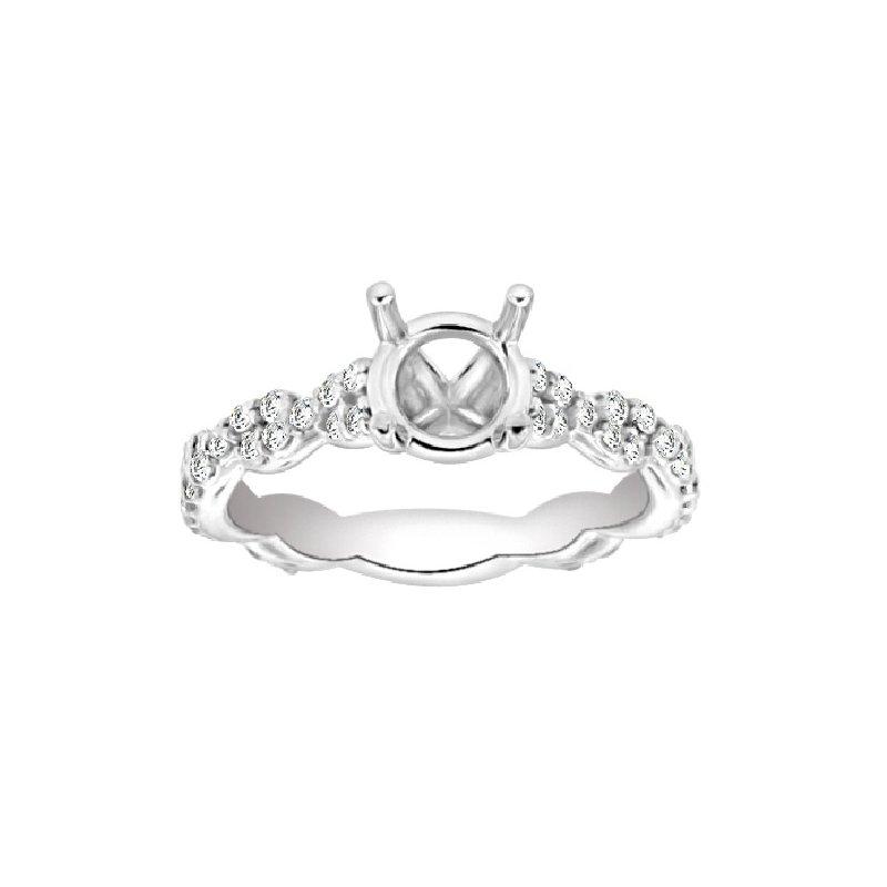 1/2ct tw Diamond Engagement Ring Setting in Platinum
