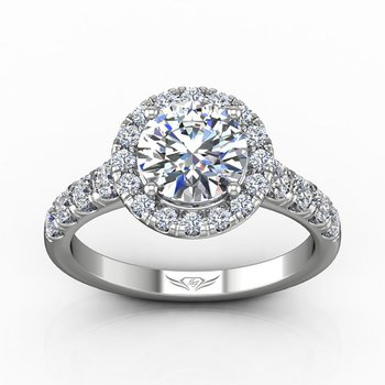 2 1/2ct tw Diamond Halo Engagement Ring in 14K White Gold