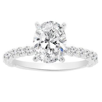 1/2ct tw NewBorn Lab Created Diamond Engagement Ring Setting in 14K White Gold