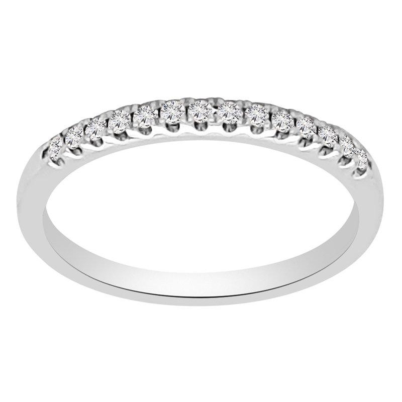 1/8ct tw Diamond Wedding Ring in 18K White Gold