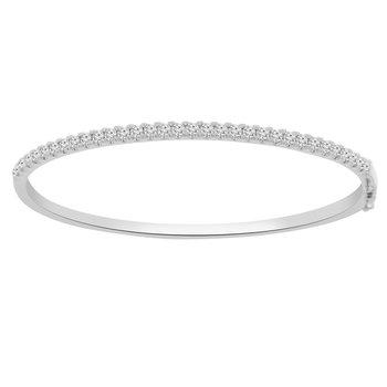 1 1/4ct tw Diamond Bangle Bracelet in 14K White Gold