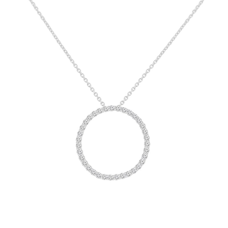 1/2ct tw NewBorn Lab Created Diamond Circle Necklace in Sterling Silver