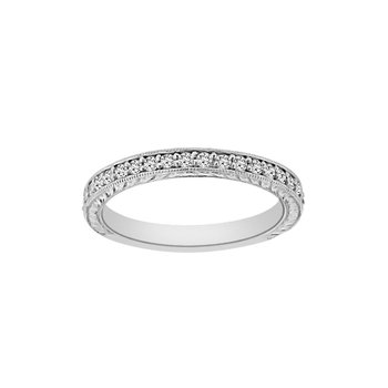 3/8ct tw Diamond Wedding Ring in14K White Gold