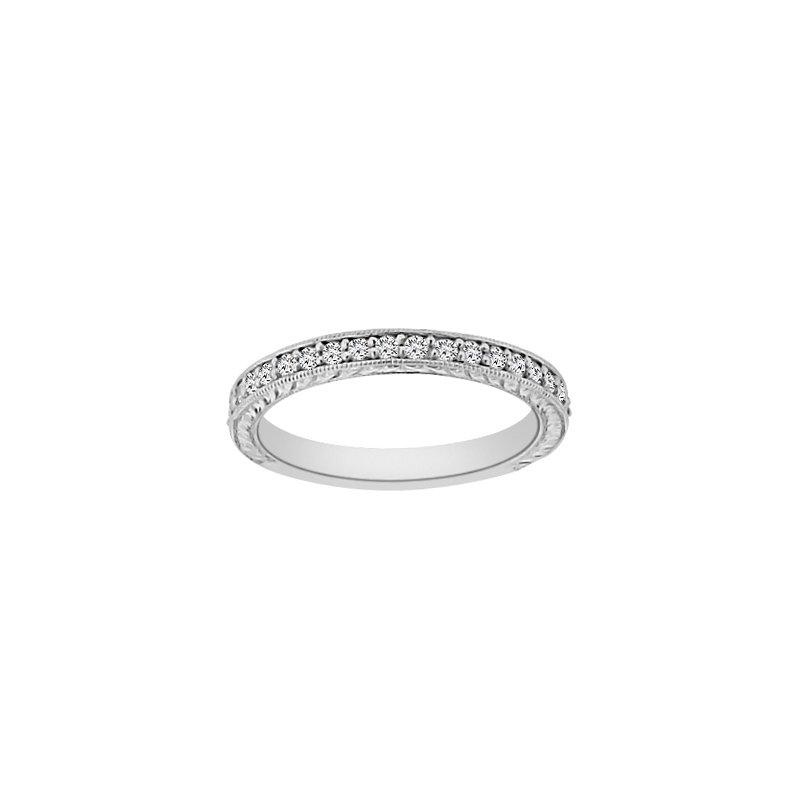 3/8ct tw Diamond Wedding Ring in14K White Gold